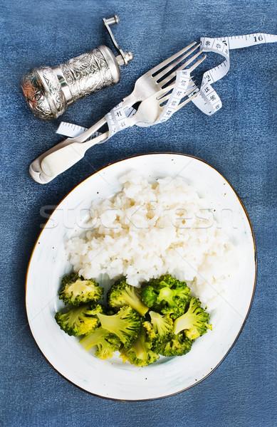 Bianco riso broccoli piatto dieta Foto d'archivio © tycoon