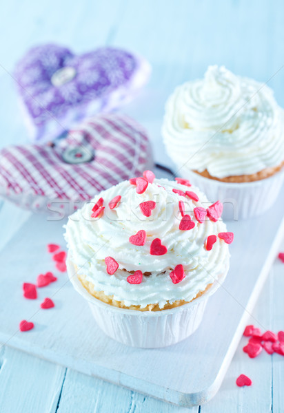 édes étel szeretet szív születésnap torta Stock fotó © tycoon