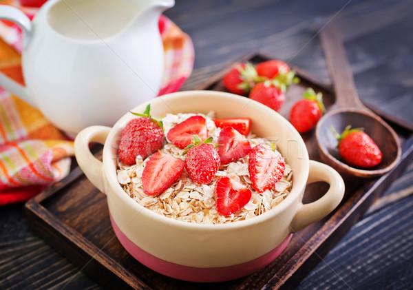 Cozinha leite trigo vida café da manhã comer Foto stock © tycoon