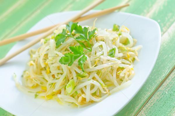 サラダ 春 食品 緑 油 プレート ストックフォト © tycoon