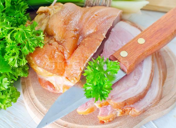 Gerookt vlees vet marmer peper kok Stockfoto © tycoon