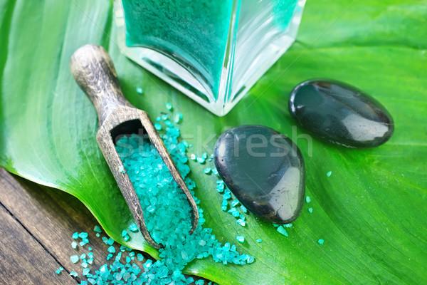 Zeezout lichaam zee schoonheid huid spa Stockfoto © tycoon