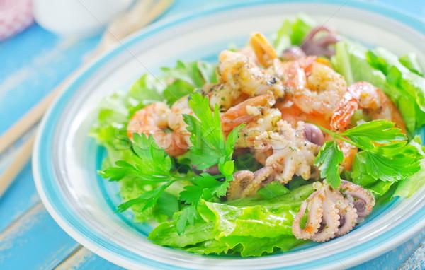 Ensalada mariscos alimentos luz mar restaurante Foto stock © tycoon