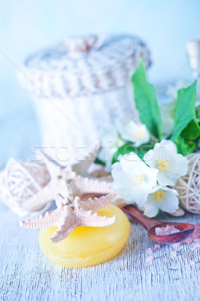 Sale marino sapone bianco tavola mare relax Foto d'archivio © tycoon