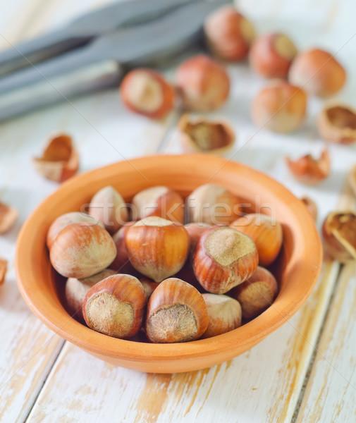 Mogyoró étel természet háttér energia kagyló Stock fotó © tycoon
