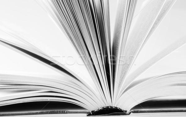 Open boek business kantoor boek school achtergrond Stockfoto © tycoon