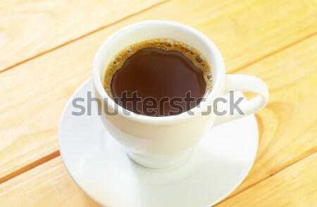 Kahve ahşap sanat restoran tablo hayat Stok fotoğraf © tycoon