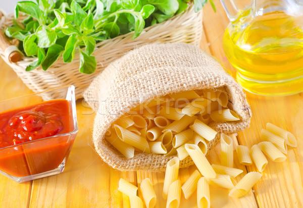 ストックフォト: クローズアップ · パスタ · 袋 · 食品 · キッチン · 赤
