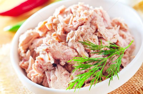 Салат тунца продовольствие рыбы зеленый Сток-фото © tycoon