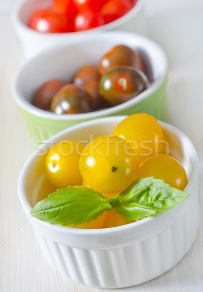 Renk domates doğa sağlık yaz kiraz Stok fotoğraf © tycoon