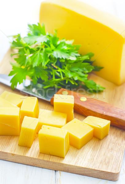 Peynir gıda ahşap Metal mutfak akşam yemeği Stok fotoğraf © tycoon