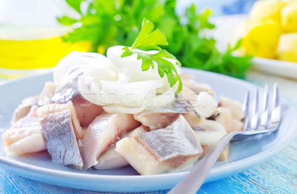 herring with onion Stock photo © tycoon