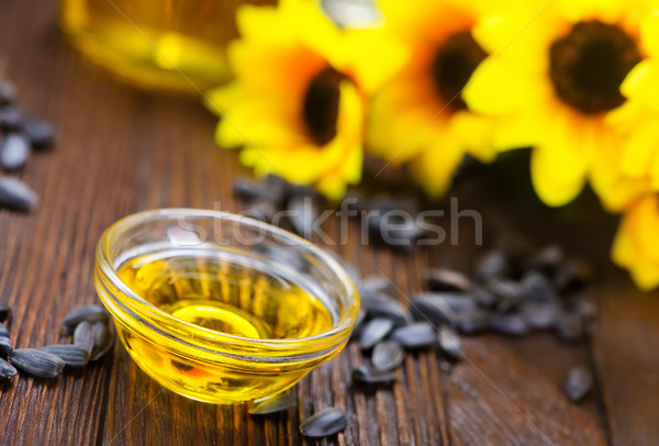 подсолнечного масла подсолнечника семян таблице текстуры продовольствие Сток-фото © tycoon