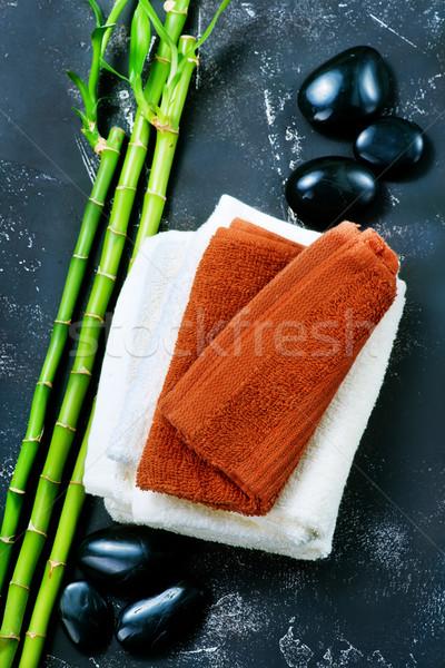 Spa объекты черный камней бамбук Сток-фото © tycoon