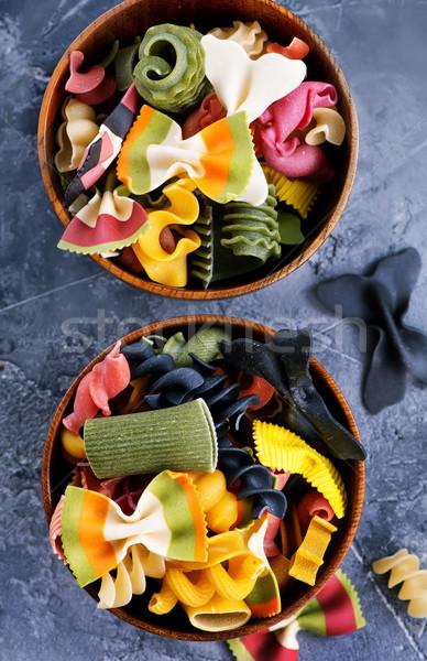 сырой пасты цвета чаши таблице фон Сток-фото © tycoon