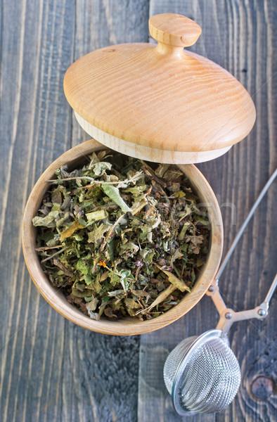 высушите чай древесины лист медицина черный Сток-фото © tycoon