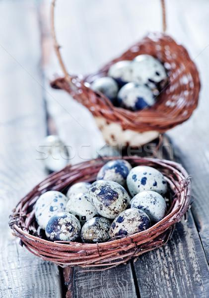 Stock fotó: Tojások · fészek · fa · asztal · étel · fa · tojás