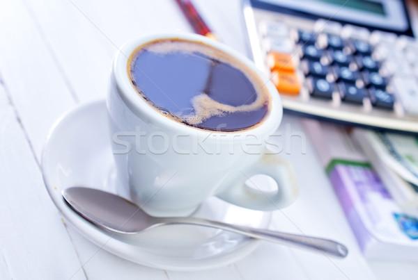 Kawy pióro technologii pić czarny Kalkulator Zdjęcia stock © tycoon