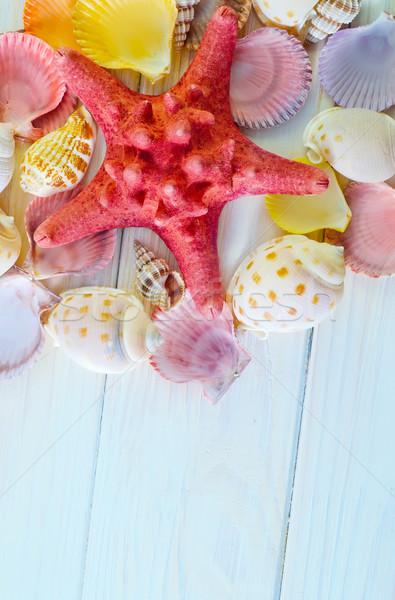 Obus plage texture bois mer design Photo stock © tycoon