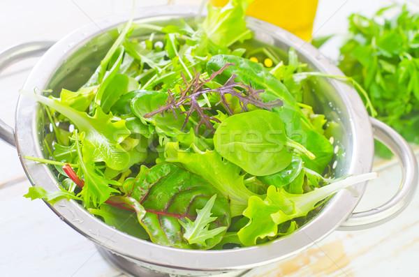 新鮮な サラダ 健康 背景 緑 工場 ストックフォト © tycoon