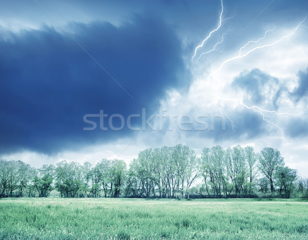 Green field and storm Stock photo © tycoon