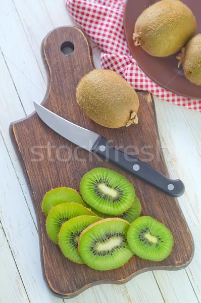 Vers kiwi hout vruchten tuin zomer Stockfoto © tycoon