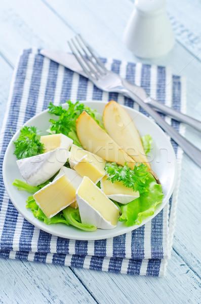 沙拉 卡蒙伯爾 梨子 葉 水果 綠色 商業照片 © tycoon