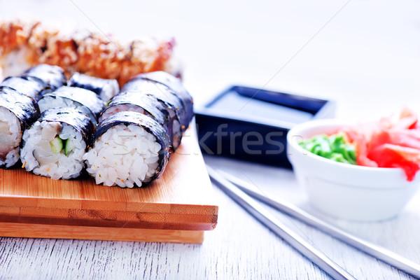 fresh sushi Stock photo © tycoon