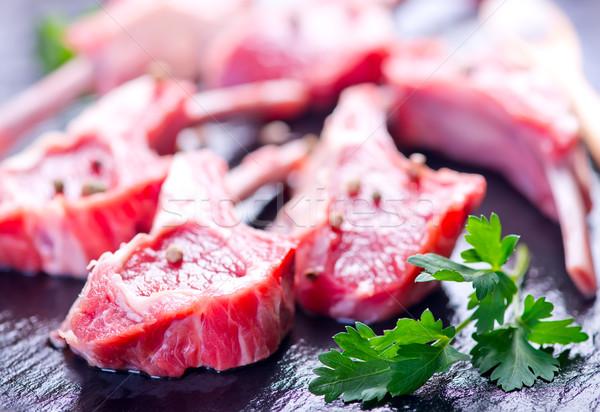 Stock photo: Raw meat