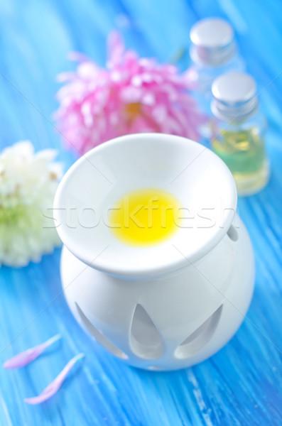 аромат нефть цветы огня медицинской здоровья Сток-фото © tycoon