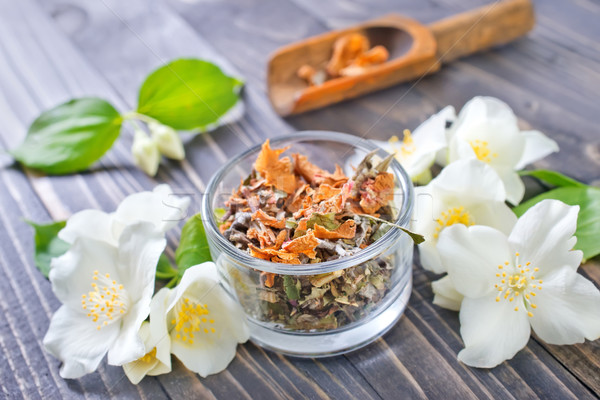 Secar chá medicinal comida fundo metal laranja Foto stock © tycoon