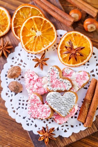 ストックフォト: クッキー · 花 · 食品 · 愛 · ケーキ · 夏