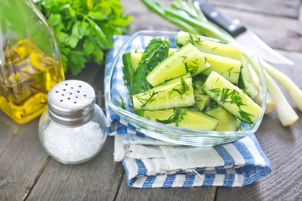 cucumber salad Stock photo © tycoon