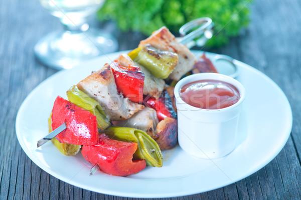 Kebab Sauce weiß Platte Tool Stock foto © tycoon