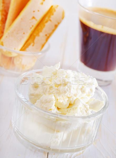 Ингредиенты Тирамису продовольствие стороны кофе яйцо Сток-фото © tycoon