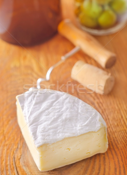 Camembert voedsel tabel brood diner Rood Stockfoto © tycoon