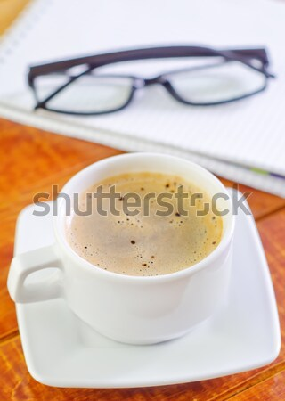 coffee and note Stock photo © tycoon