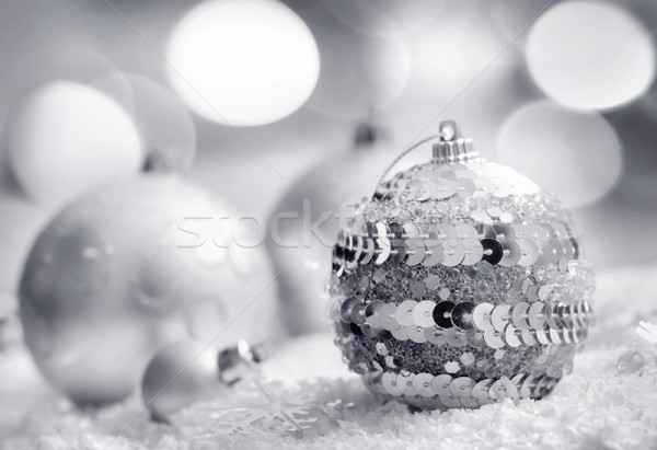 Cristmas decoration, blue ball on blue background Stock photo © tycoon