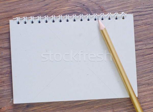 note and pencil Stock photo © tycoon