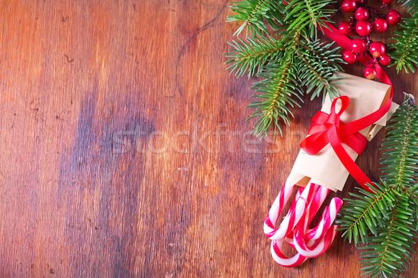 Noel çerçeve şeker dekorasyon mutlu dizayn Stok fotoğraf © tycoon