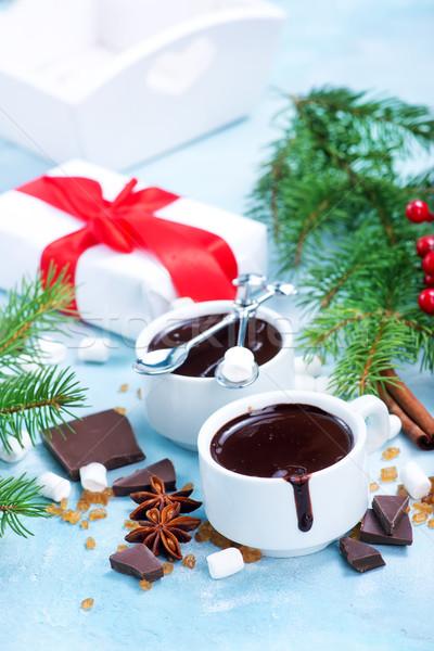 Cioccolata calda Spice Cup sfondo inverno latte Foto d'archivio © tycoon