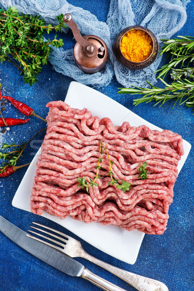 Stock photo: minced meat