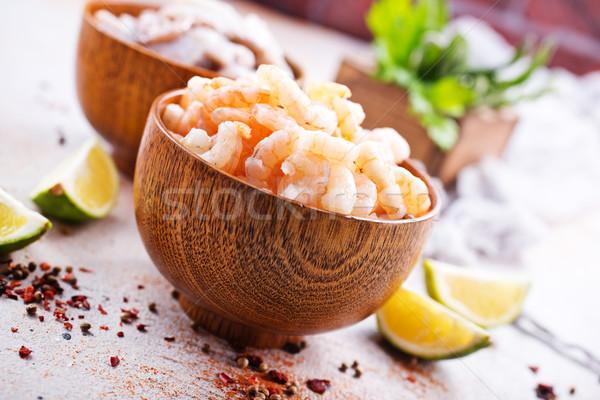 Tengeri hal tálak asztal étel hal háttér Stock fotó © tycoon