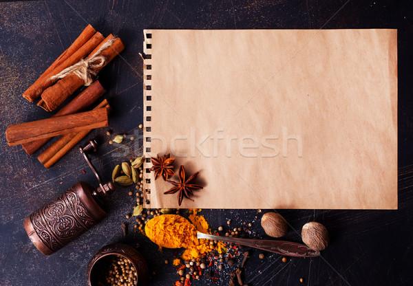 Aroma Spice aglio sale tavola alimentare Foto d'archivio © tycoon