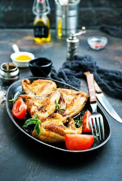 Kip vleugels gebakken zout aroma Spice Stockfoto © tycoon