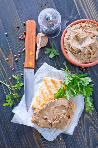 pate and bread Stock photo © tycoon