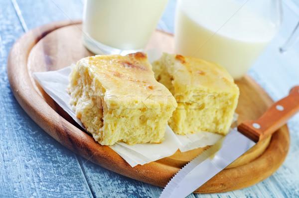 fresh bread with milk Stock photo © tycoon