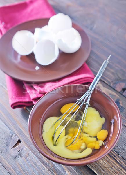 raw eggs Stock photo © tycoon