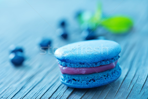 blueberry macaroon Stock photo © tycoon