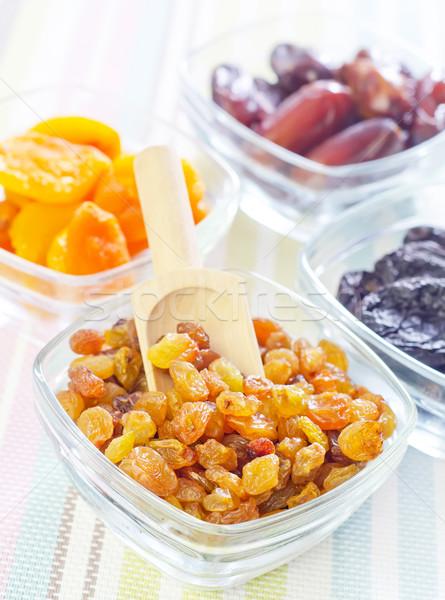 Stock fotó: Aszalt · mazsola · datolya · étel · gyümölcs · háttér